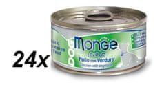 Monge mokra karma dla psa Natural kurczak  i warzywa - 24 x 95 g