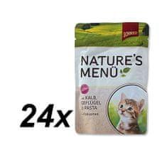 Schmusy hrana za mačke Nature Junior, teletina in perutnina, 24 x 100 g