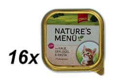 Schmusy hrana za mačke Nature Junior, teletina in perutnina, 16 x 100 g
