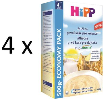 HiPP Mliečná prvá kaša pre kojenca 500g (3+1 zdarma)