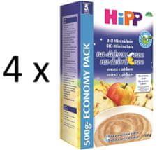 HiPP BIO Mliečnoobilná kaša na dobrú noc ovsená s jablkom 500g (3+1 zdarma)