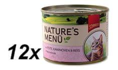 Schmusy hrana za mačke Nature, puretina i zečetina, 12 x 190 g