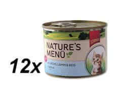 Schmusy hrana za mačke Nature Junior, losos in jagnjetina, 12 x 190 g