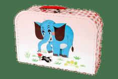 Teddies Kuferek kartonowy laminowany z rączką Krecik i Słoń 35