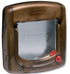 Staywell plastična vrata za mačke in pse 320, rjava