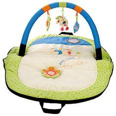 BINO Cestovné hracia deka s hrazdičkou Slon
