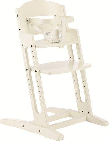 BabyDan stolček za hranjenje Dan, bel