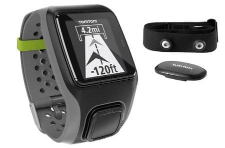 TomTom GPS ura MultiSport, HRM, črno-siva
