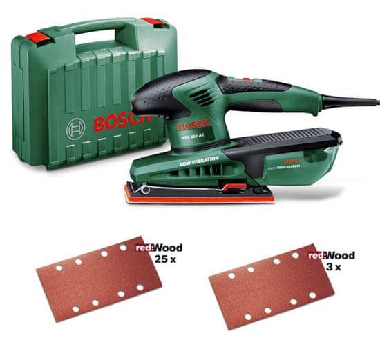 Bosch PSS 250 AE + set 25 brusných papírů 0.603.340.20F