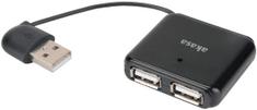 Akasa USB HUB AK-HB-07BK, črn