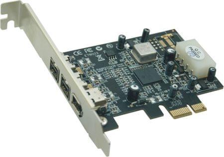 ST Lab PCI Express razširitvena kartica ST-Lab F-301 3x Firewire