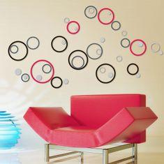 Crearreda zidna dekorativna naljepnica, krugovi 3D