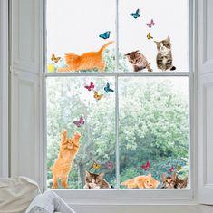 Crearreda dekorativna naljepnica za prozore, mačke