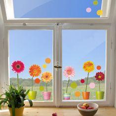 Crearreda dekorativna naljepnica za prozor, gerber