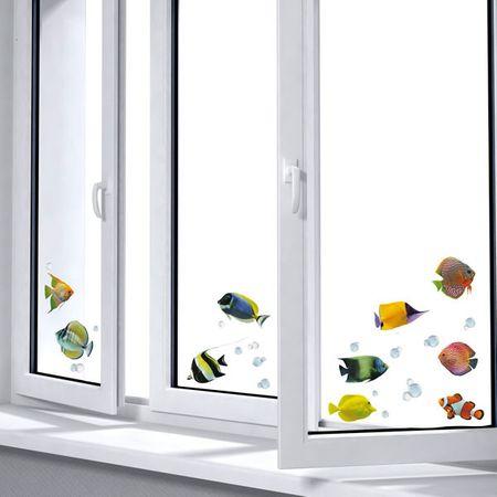 Crearreda Dekorativna nalepka za okno, ribe