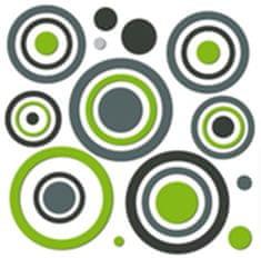 Crearreda stenska dekorativna nalepka 3D, krogi (54503)