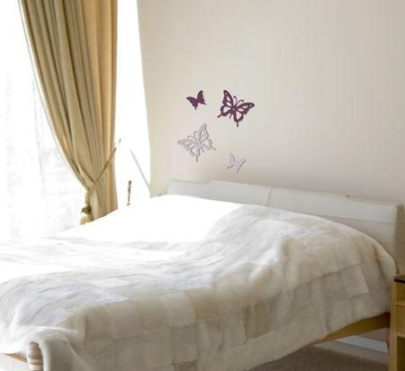 Crearreda stenska dekorativna nalepka 3D, metulji (59501)