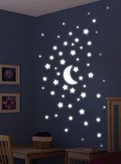 Crearreda svjetleća zidna dekorativna naljepnica, super zvijezde