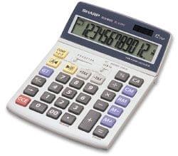 Sharp kalkulator EL2125C, namizni, 12-mestni
