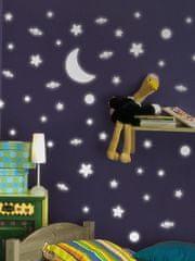 Crearreda Svetleča stenska dekorativna nalepka, zvezde 79223