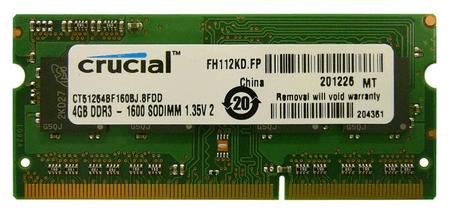 Crucial Pomnilnik (RAM) za prenosnik DDR3 4GB 1600 MHz (CRUME-4GB_DDR3_16007)