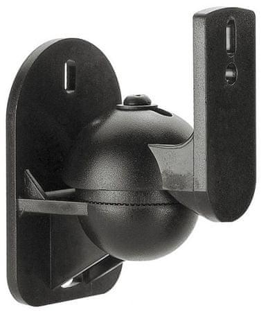 Reflecta Univerzalni stenski nosilec Sono 2.1 TR, črn, 2 kom