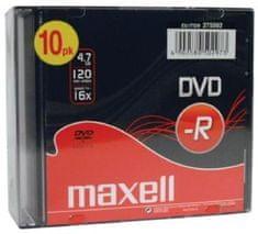 Maxell DVD-R medij 4,7 GB 16x, 10 kosov