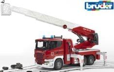 Bruder vatrogasno vozilo Scania s teleskopskim ljestvama