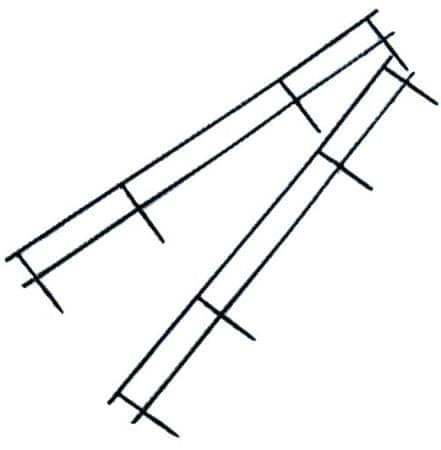 GBC Letvica VeloBind črna, 4 luknje, 25 kom