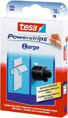 Tesa Lepilni lističi Powerstrips, 10 lističev v zavitku