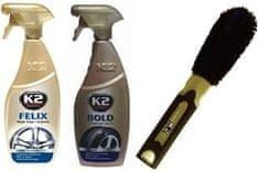 K2 Komplet za čiščenje in nego avtomobilskih koles Hobby