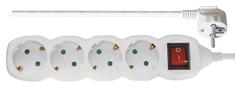 Emos podaljšek 5 m, 4 vtičnice, stikalo (P1425)