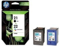 HP černá + barevná č.21 a č.22 (SD367AE)