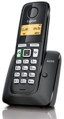 Gigaset telefon bezprzewodowy A220, czarny