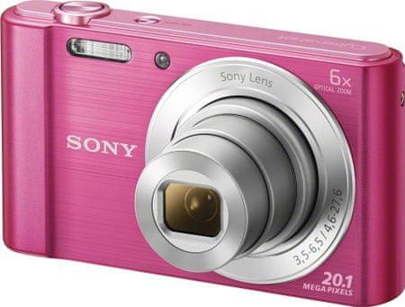 Sony digitalni fotoaparat CyberShot DSC-W810P, roza