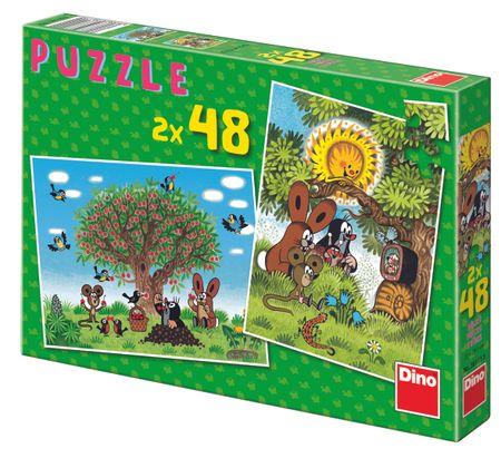Dino Léto s Krtečkem puzzle, 2x 48 dílků