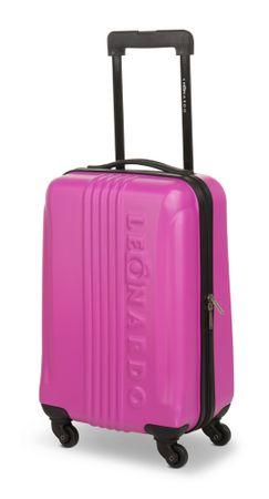 Leonardo 31 l, kovček Trolley, roza - odprta embalaža