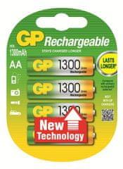GP baterija za punjenje Ni-Mh AA 1300 mAh, 4 kom