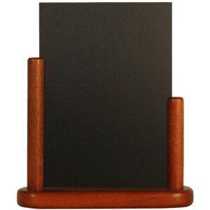Securit stolna crna kredna ploča Elegant, drven okvir, 24 x 30 cm