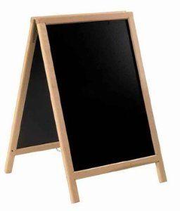 Securit Ulična črna kredna tabla Duplo, tik, 55 x 85 cm