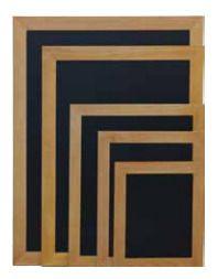 Securit Črna kredna tabla Woody, tik okvir, 20 x 40 cm
