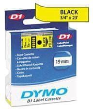 Dymo traka za ispis naljepnica D1, širina 19 mm, crno/žuta, 45808