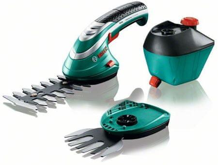 Bosch ISIO 3, nožnice na kríky + lišta na trávu + rozprašovač