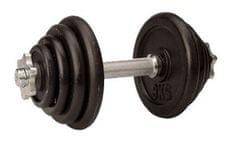Avenio set železnih uteži z ročko, 15 kg