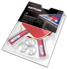 Kettler Set loparjev za namizni tenis Champ z žogicami