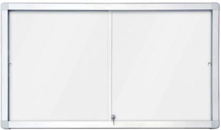 Piši-Briši nutarnja oglasna vitrina s bijelom pločom 2 x 3 GS112A4PD, 12 x A4, 70 x 141 cm