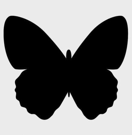 Securit Črna kredna tabla Silhouette, metulj, max. 30 x 50 cm