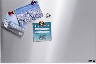 Dahle Tabla iz nerjavečega jekla z 4 magneti, 40 x 60 cm