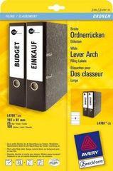 Avery Zweckform Etikete Zweckform za registratorje L4761-100 192 X 61 100 listov
