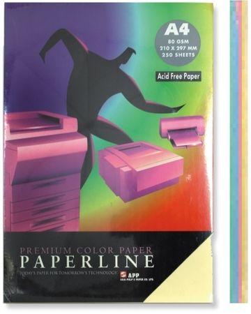 Paperline Pisarniški papir A4, pastelen, 250 listov